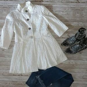 //ETHYL// White crepe dress jacket Women's M